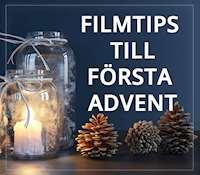 Vinterbild med texten: filmtips till första advent