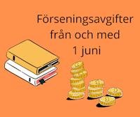Böcker och pengar för att illustrera förseningsavgift